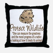 Protect Bears Throw Pillow