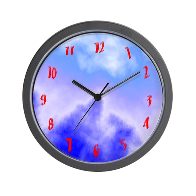 Cool clocks distorted numbers wall clock by cosmeticplastic - Mondaine wall clock cm ...