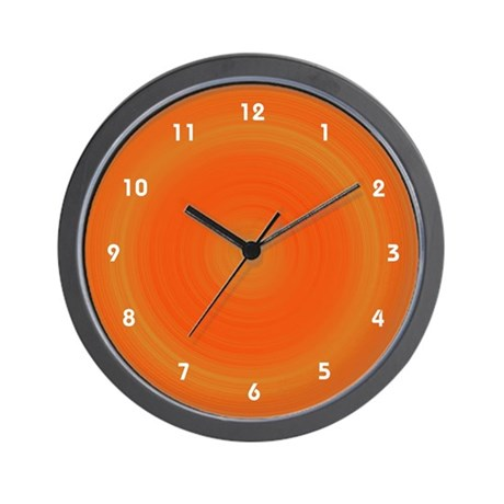 Orange Dreamscicle Cool Clocks Wall Clock By Cosmeticplastic