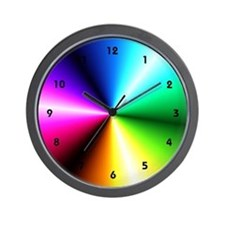 Rainbow Bridge Psychedelic Color Wheel Wall Clock