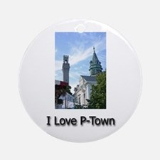 I Love P-Town Ornament (Round)