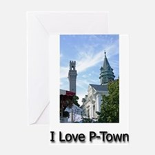 I Love P-Town Greeting Card