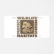Protect Bears Wildlife Aluminum License Plate