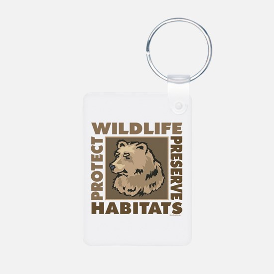 Protect Bears Wildlife Keychains