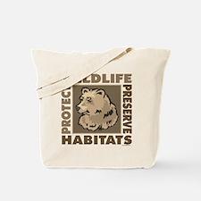 Protect Bears Wildlife Tote Bag