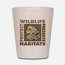 Protect Bears Wildlife Shot Glass