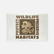 Protect Bears Wildlife Rectangle Magnet