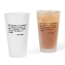 'Big Lebowski Quote' Drinking Glass