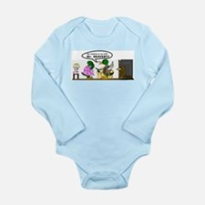 A Cheating Duck Long Sleeve Infant Bodysuit
