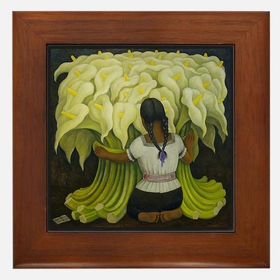 Diego Rivera Art Tile Framed Tile Cala Lilies