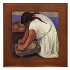 Diego Rivera - Molendera Art Tile Framed Tile