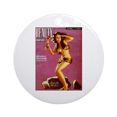 Beauty Parade Cave Girl Cover Ornament (Round)