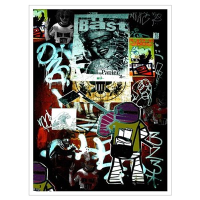 """Tribeca Street Art w/ Urban59 Tag"" 23x32"" Canvas Art"