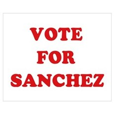 Vote for Sanchez Canvas Art