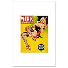 Wink Beauty Queen in Red Heels Posters
