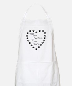 Dogs Leave Paw Prints Apron