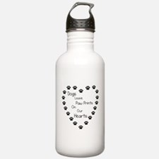 Dogs Leave Paw Prints Water Bottle
