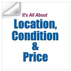 Location, Condition and Price Wall Decal