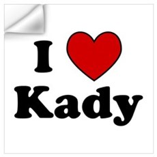 I Heart Kady Wall Decal