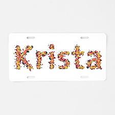 Krista Fiesta Aluminum License Plate