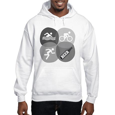 Swim Bike Run Beer! Hooded Sweatshirt