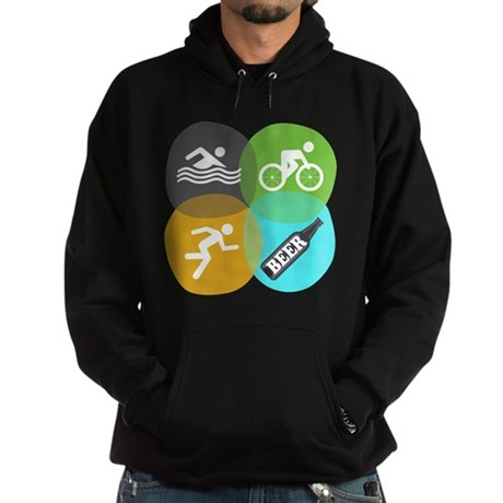 Swim Bike Run Beer! Hoodie (dark)