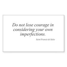 Saint Francis de Sales quote Sticker (Rectangular