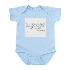 Saint Francis de Sales quote  Infant Creeper