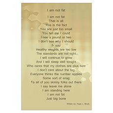Fat poem Poster