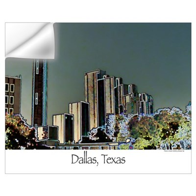 Dallas in Neon Wall Decal