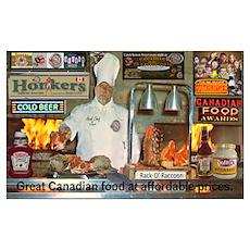 Honker's Canadian Kitchen Poster