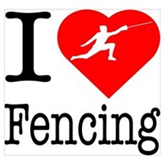 I Love Fencing Poster