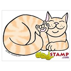 Orange Tabby ASL Kitty Poster