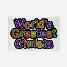 World's Greatest Christa Rectangle Magnet