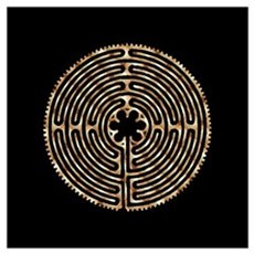 Chartres Labyrinth Pearl Canvas Art