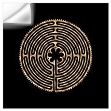 Chartres Labyrinth Pearl Wall Decal