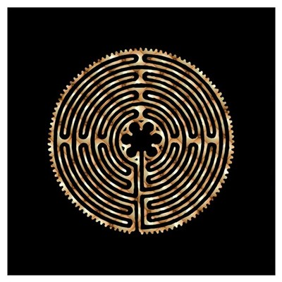 Chartres Labyrinth Pearl Framed Print