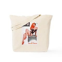 Eyeful Sitting Redhead Beauty Pin Up Tote Bag