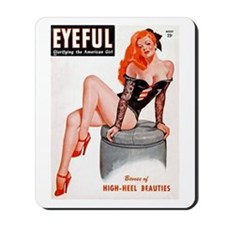 Eyeful Sitting Redhead Beauty Pin Up Mousepad