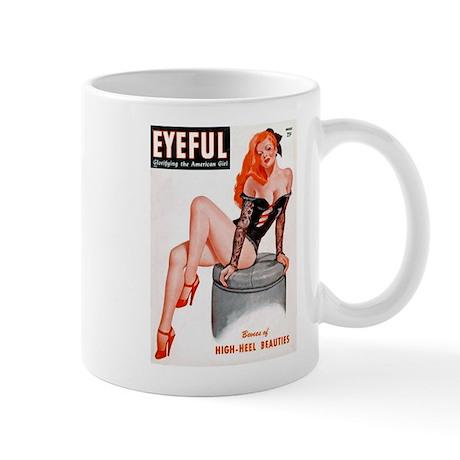 Eyeful Sitting Redhead Beauty Pin Up Mug