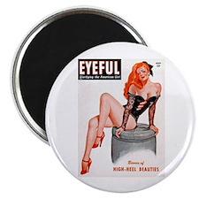 Eyeful Sitting Redhead Beauty Pin Up Magnet