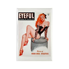 Eyeful Sitting Redhead Beauty Pin Up Rectangle Mag