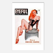 Eyeful Sitting Redhead Beauty Pin Up Postcards (Pa