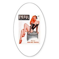 Eyeful Sitting Redhead Beauty Pin Up Decal