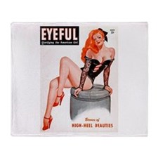 Eyeful Sitting Redhead Beauty Pin Up Stadium Blan