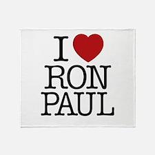 I Love Ron Paul Throw Blanket