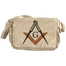 Masonic Square and Compass Messenger Bag