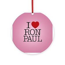 I Love Ron Paul Ornament (Round)