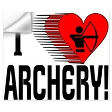 I Love Archery Wall Decal