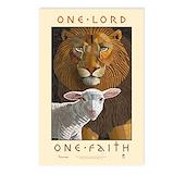 Lion and lamb Postcards
